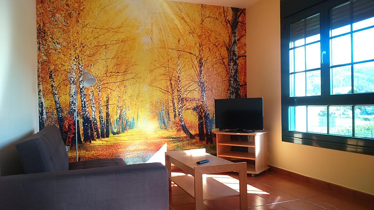 Salón con sofá cama apartamentos luarca asturias